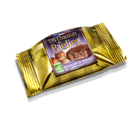 T9669 Mini rocher choco lait individuel